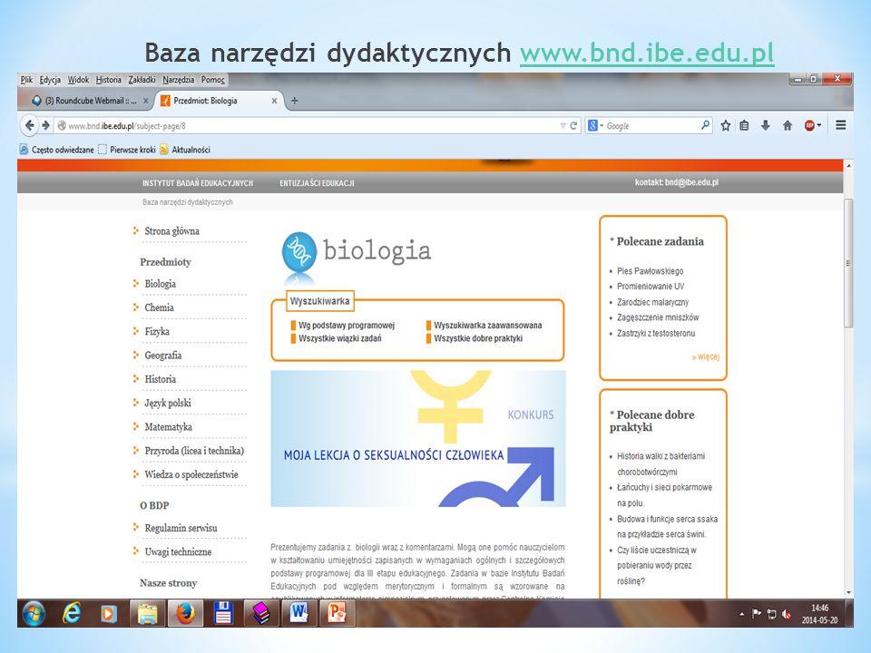 Baza narzędzi dydaktycznych www.bnd.ibe.edu.plwww.bnd.ibe.edu.pl