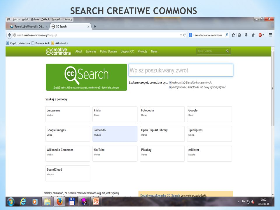 SEARCH CREATIWE COMMONS