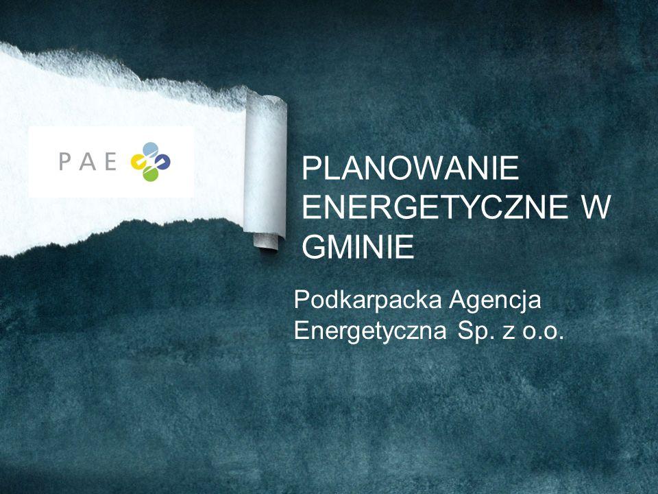 PLANOWANIE ENERGETYCZNE W GMINIE Podkarpacka Agencja Energetyczna Sp. z o.o.