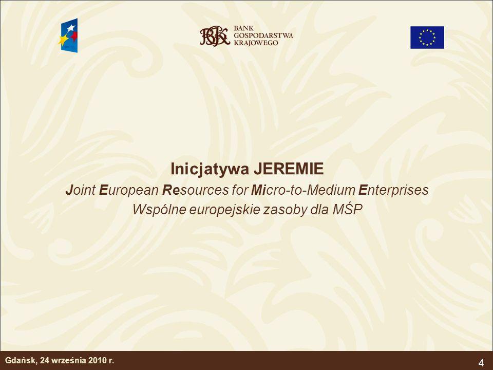 5 Istota inicjatywy JEREMIE JEREMIE – jako nowy mechanizm pozadotacyjnego wsparcia mikro, małych i średnich przedsiębiorstw ze środków publicznych ustanowionym przez Komisję Europejską; Istotą inicjatywy jest założenie Funduszu Powierniczego, który to Fundusz rozbuduje wachlarz instrumentów finansowych wspierających MŚP; Specyfika modelu – odejście od tradycyjnego dotacyjnego wsparcia instrumentów finansowych (np.