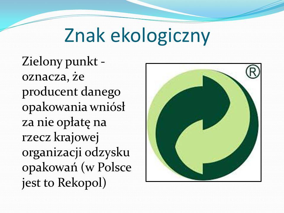 Znak ekologiczny Bezpieczny dla ozonu - znaczek z kulą ziemską informuje, że produkt nie zawiera niszczących powłokę ozonową gazów - freonów.