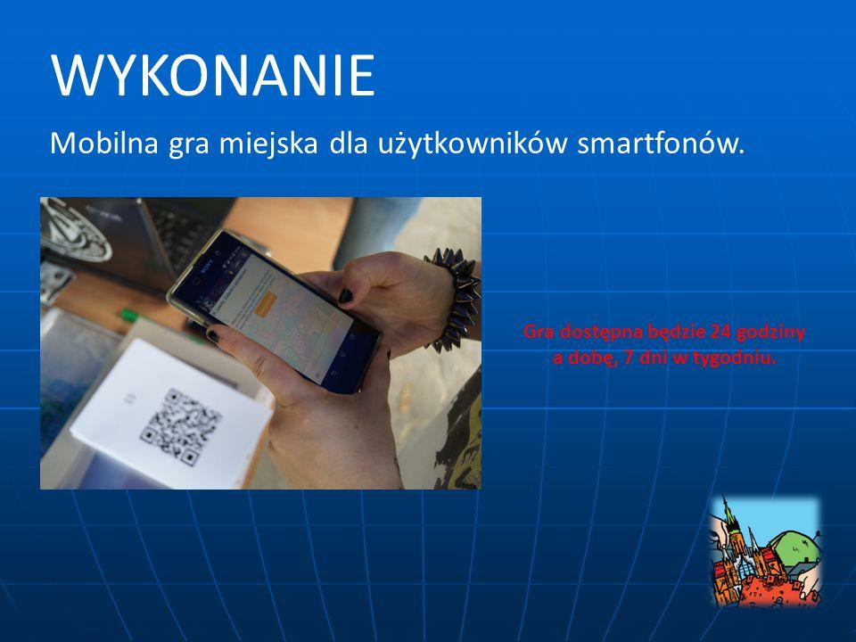 Mobilna gra miejska dla użytkowników smartfonów.