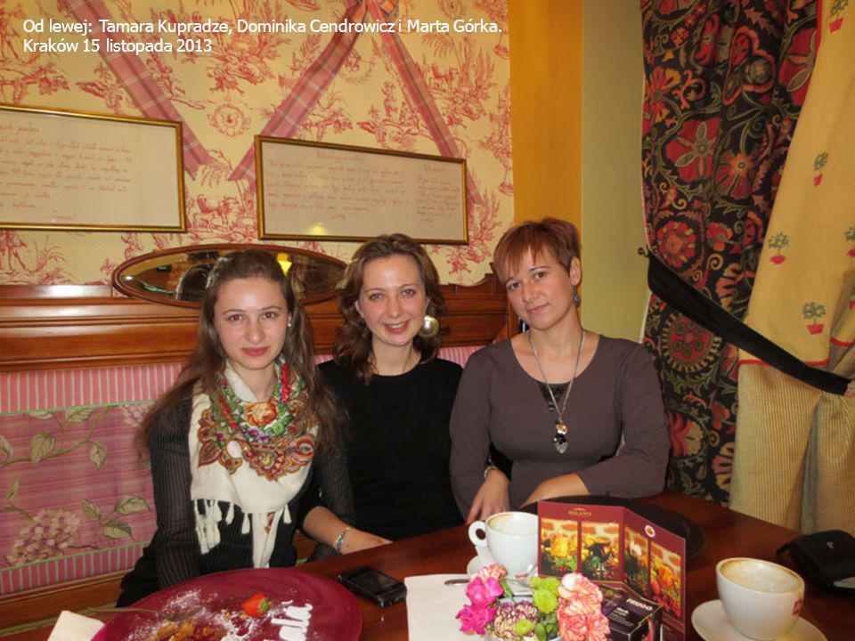 Od lewej: Tamara Kupradze, Dominika Cendrowicz i Marta Górka. Kraków 15 listopada 2013