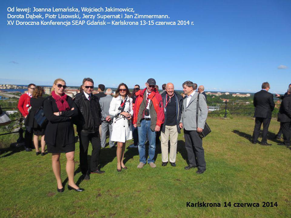 Od lewej: Joanna Lemańska, Wojciech Jakimowicz, Dorota Dąbek, Piotr Lisowski, Jerzy Supernat i Jan Zimmermann. XV Doroczna Konferencja SEAP Gdańsk – K