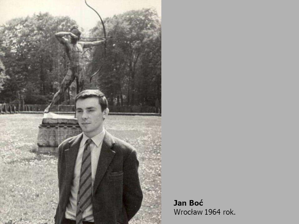 Jan Boć Wrocław 1964 rok.