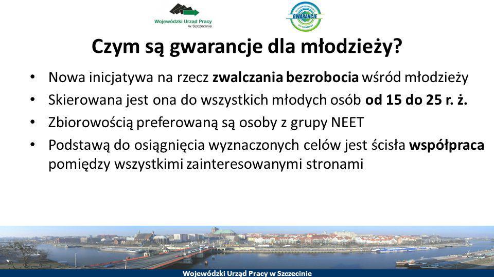 Wojewódzki Urząd Pracy w Szczecinie Czym są gwarancje dla młodzieży? Nowa inicjatywa na rzecz zwalczania bezrobocia wśród młodzieży Skierowana jest on