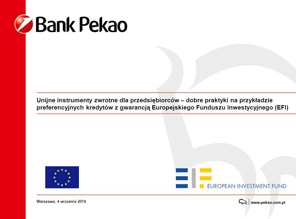 Unijne instrumenty zwrotne dla przedsiębiorców – dobre praktyki na przykładzie preferencyjnych kredytów z gwarancją Europejskiego Funduszu Inwestycyjn