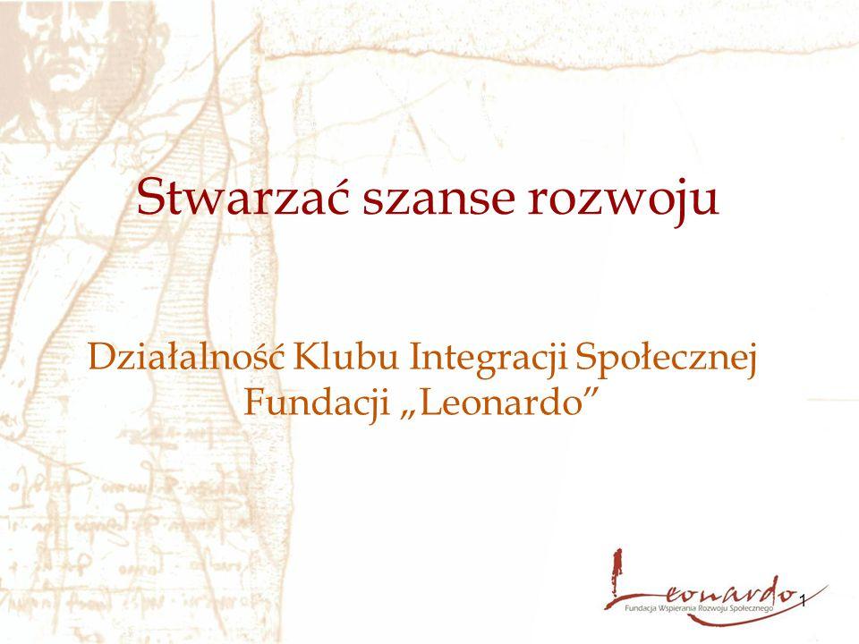 """1 Stwarzać szanse rozwoju Działalność Klubu Integracji Społecznej Fundacji """"Leonardo"""