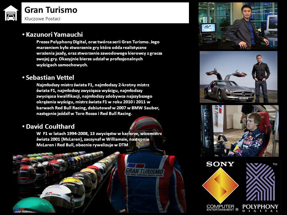 Kazunori Yamauchi Prezes Polyphony Digital, oraz twórca serii Gran Turismo. Jego marzeniem było stworzenie gry która odda realistyczne wrażenia jazdy,