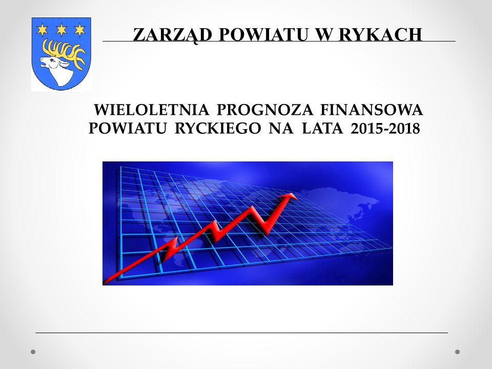 WIELOLETNIA PROGNOZA FINANSOWA POWIATU RYCKIEGO NA LATA 2015-2018 ZARZĄD POWIATU W RYKACH