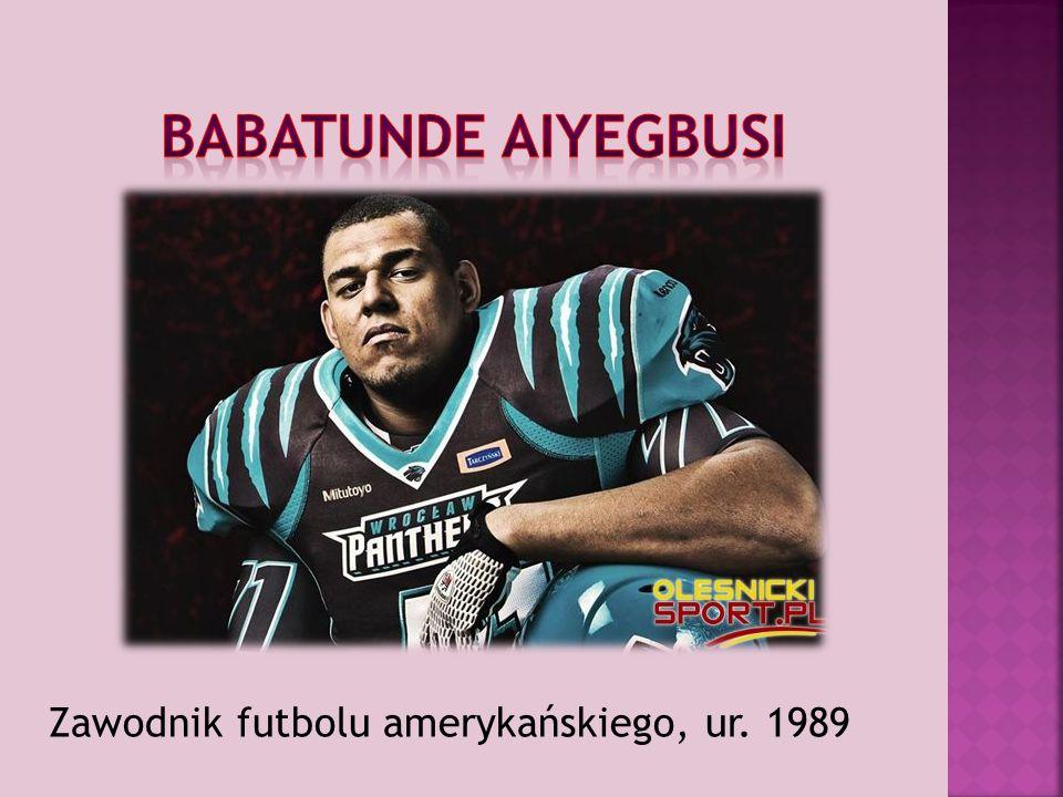 Zawodnik futbolu amerykańskiego, ur. 1989