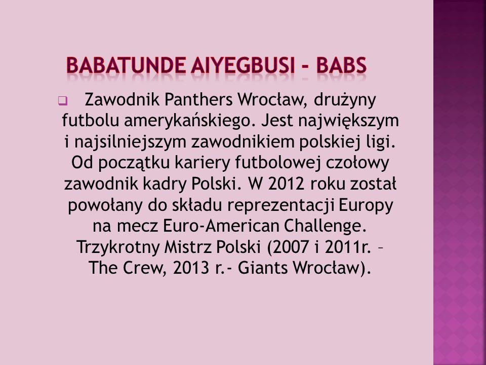  Zawodnik Panthers Wrocław, drużyny futbolu amerykańskiego.