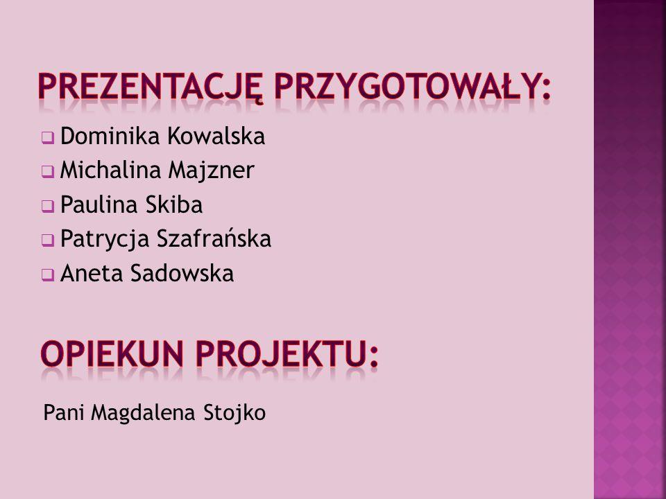  Dominika Kowalska  Michalina Majzner  Paulina Skiba  Patrycja Szafrańska  Aneta Sadowska Pani Magdalena Stojko