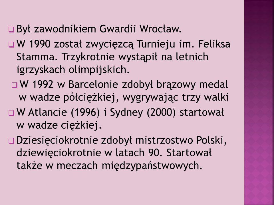  Był zawodnikiem Gwardii Wrocław. W 1990 został zwycięzcą Turnieju im.