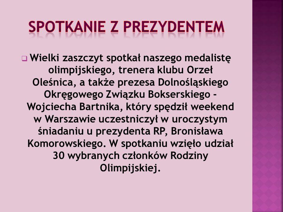 Finałowy pojedynek zakończył się zwycięstwem na punkty po trzech rundach, co pozwoliło mu wygrać I Grand Prix Polski w wadze półciężkiej w kategorii do 81 kilogramów.