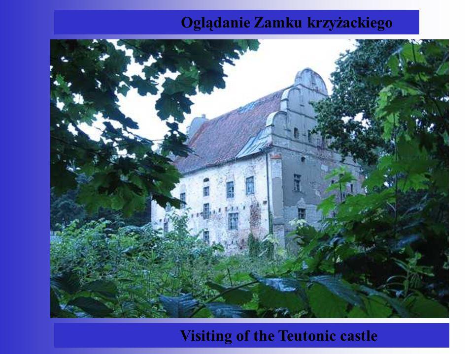 Oglądanie Zamku krzyżackiego Visiting of the Teutonic castle