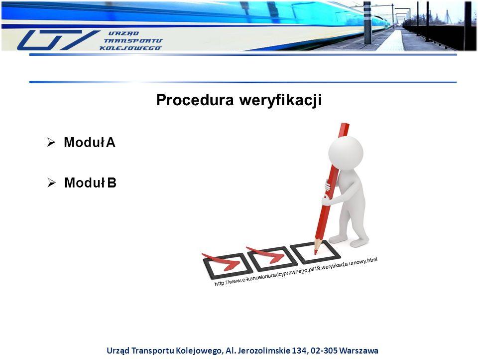Urząd Transportu Kolejowego, Al. Jerozolimskie 134, 02-305 Warszawa Procedura weryfikacji http://www.e-kancelariaradcyprawnego.pl/19,weryfikacja-umowy