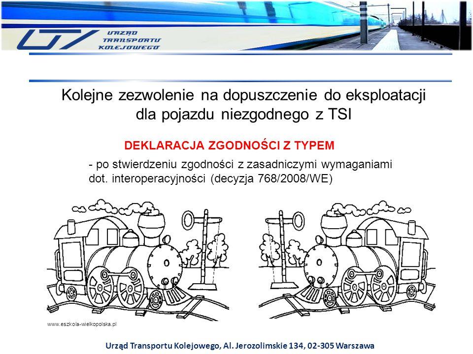 Urząd Transportu Kolejowego, Al. Jerozolimskie 134, 02-305 Warszawa Kolejne zezwolenie na dopuszczenie do eksploatacji dla pojazdu niezgodnego z TSI D