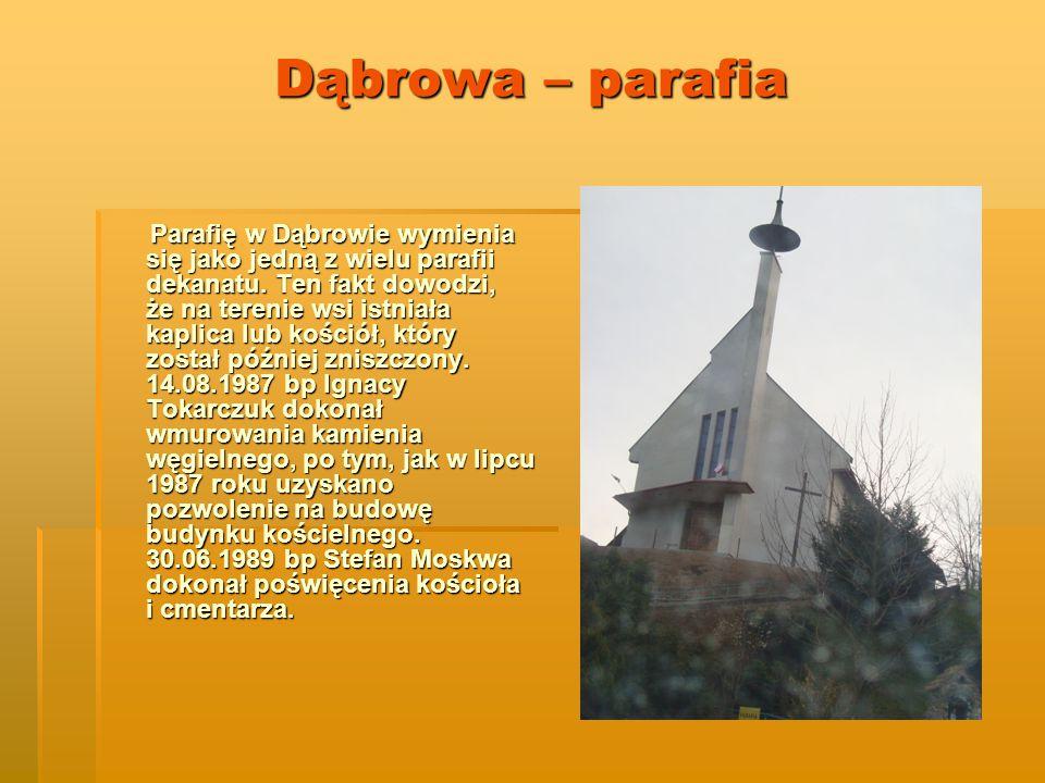 Dąbrowa – parafia Parafię w Dąbrowie wymienia się jako jedną z wielu parafii dekanatu.