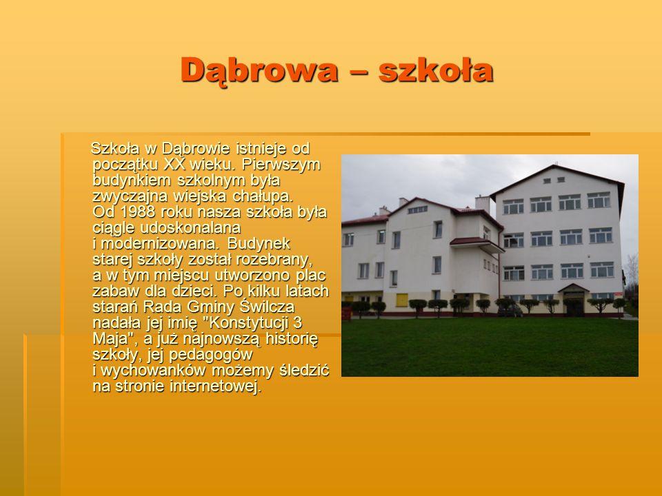 Dąbrowa – szkoła Szkoła w Dąbrowie istnieje od początku XX wieku.