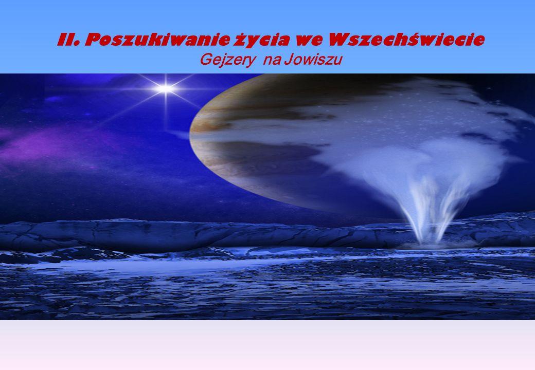 II.Poszukiwanie życia we Wszechświecie Gejzery na Jowiszu