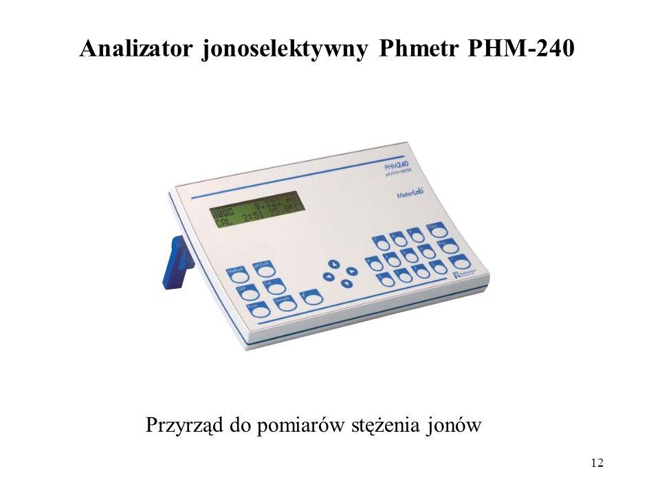 12 Analizator jonoselektywny Phmetr PHM-240 Przyrząd do pomiarów stężenia jonów