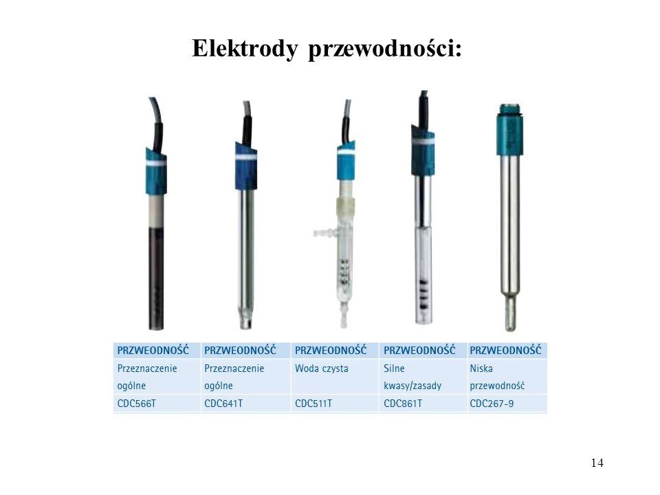 14 Elektrody przewodności: