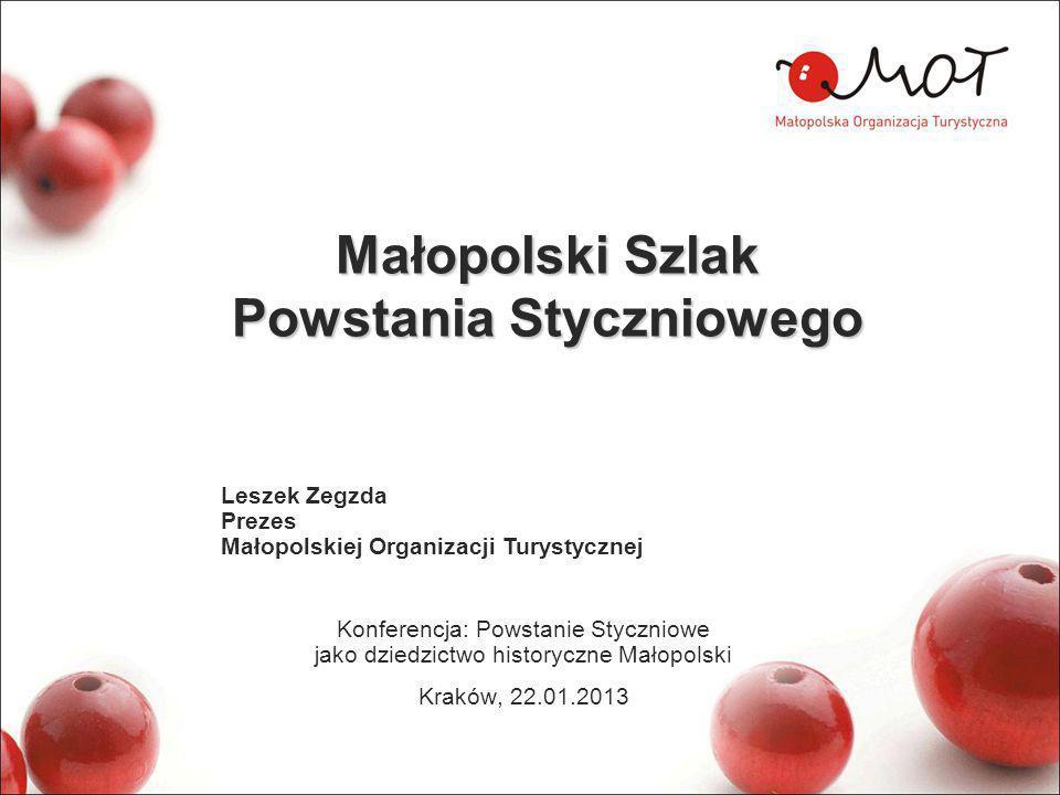 Szlaki kulturowe Małopolski W Małopolsce wytyczonych zostało blisko 80 szlaków kulturowych.