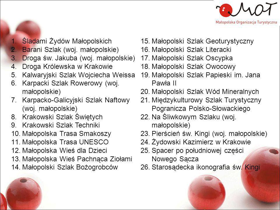 1.Śladami Żydów Małopolskich 2.Barani Szlak (woj.małopolskie) 3.Droga św.