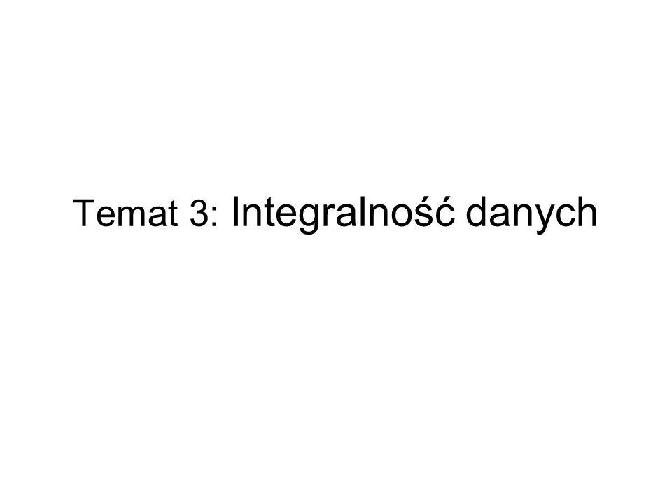 Temat 3: Integralność danych