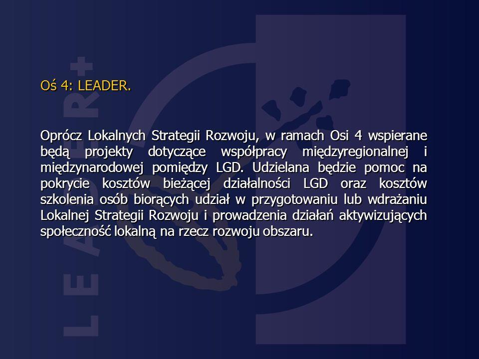 Oś 4: LEADER.