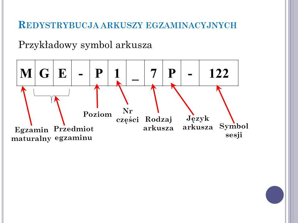 P RZEDMIOT EGZAMINU MGE-P1_7P-122 Przedmiot egzaminuSymbol język polskiPO język angielskiJA język angielski dwujęzycznyAD język francuski standardowyJF język francuski dwujęzycznyFD język hiszpańskiJH język hiszpański dwujęzycznyHD język niemiecki standardowyJN język niemiecki dwujęzycznyND język rosyjskiJR język rosyjski dwujęzycznyRD