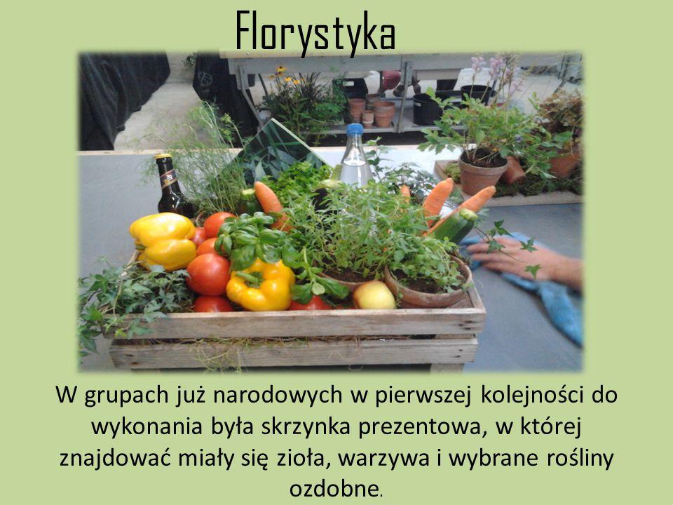 W grupach już narodowych w pierwszej kolejności do wykonania była skrzynka prezentowa, w której znajdować miały się zioła, warzywa i wybrane rośliny o