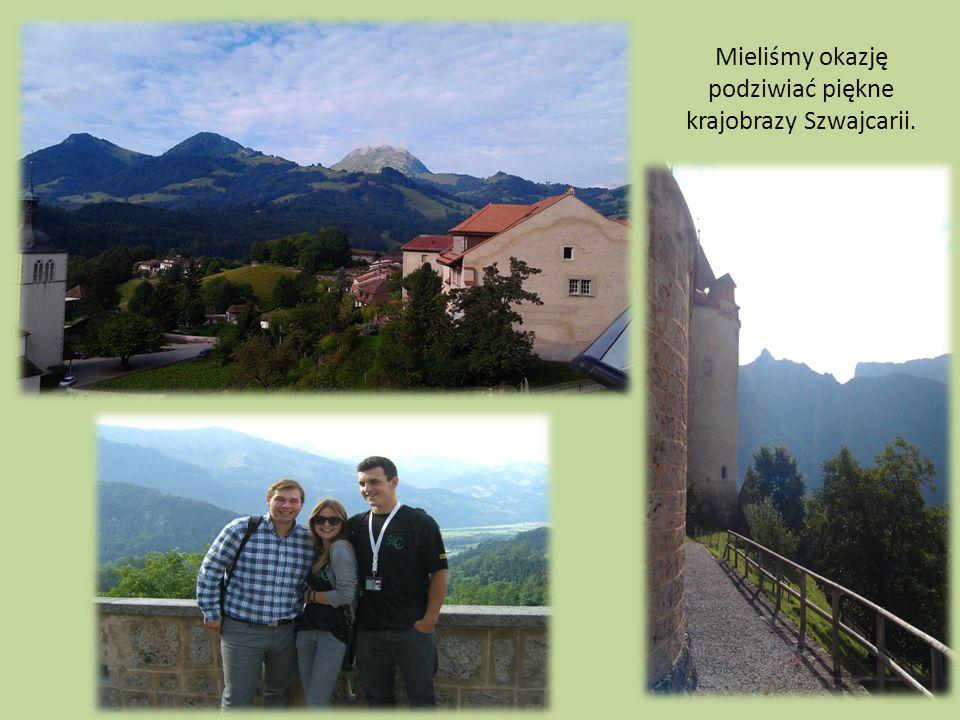 Mieliśmy okazję podziwiać piękne krajobrazy Szwajcarii.