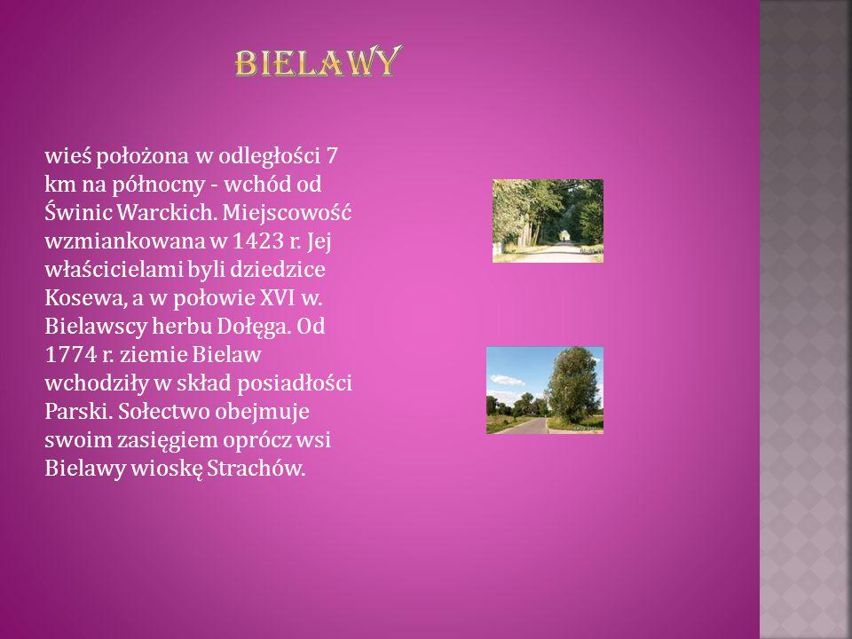 wieś położona w odległości 7 km na północny - wchód od Świnic Warckich. Miejscowość wzmiankowana w 1423 r. Jej właścicielami byli dziedzice Kosewa, a