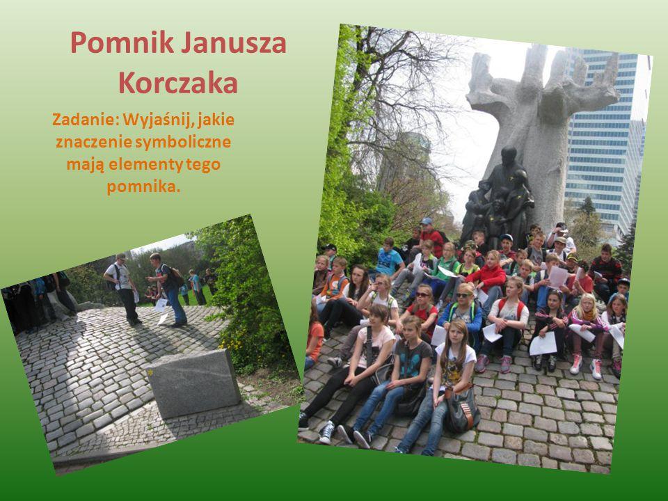 Pomnik Janusza Korczaka Zadanie: Wyjaśnij, jakie znaczenie symboliczne mają elementy tego pomnika.