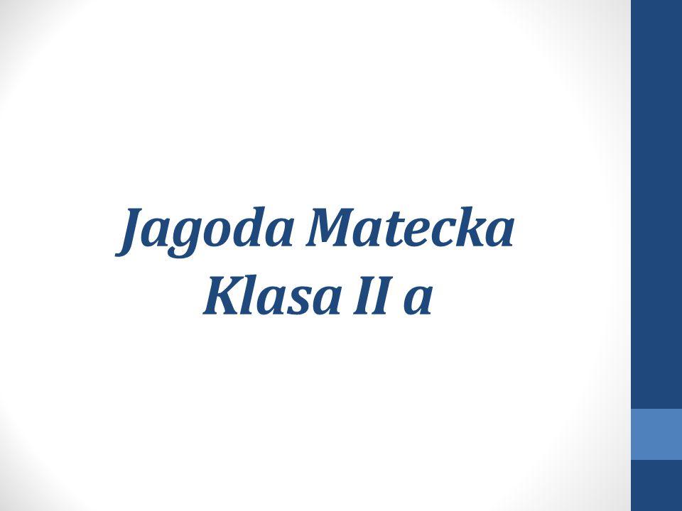 Jagoda Matecka Klasa II a