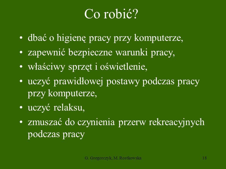 G.Gregorczyk, M. Rostkowska18 Co robić.
