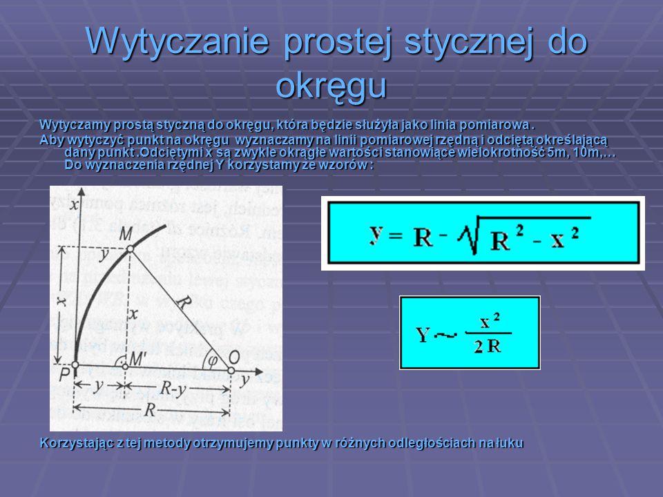 Wytyczanie prostej stycznej do okręgu Wytyczanie prostej stycznej do okręgu Wytyczamy prostą styczną do okręgu, która będzie służyła jako linia pomiar
