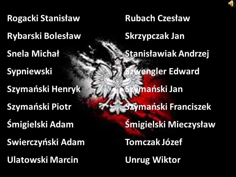 Rogacki StanisławRubach Czesław Rybarski BolesławSkrzypczak Jan Snela MichałStanisławiak Andrzej SypniewskiSzwengler Edward Szymański HenrykSzymański