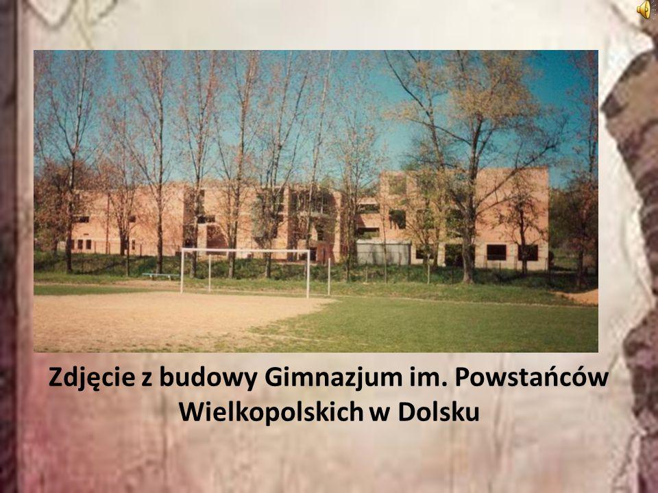 Zdjęcie z budowy Gimnazjum im. Powstańców Wielkopolskich w Dolsku