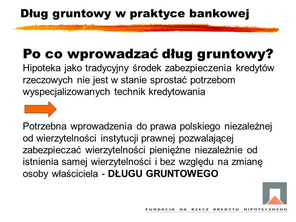 Potrzebna wprowadzenia do prawa polskiego niezależnej od wierzytelności instytucji prawnej pozwalającej zabezpieczać wierzytelności pieniężne niezależ