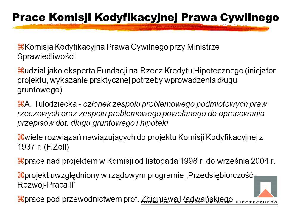Prace Komisji Kodyfikacyjnej Prawa Cywilnego zKomisja Kodyfikacyjna Prawa Cywilnego przy Ministrze Sprawiedliwości zudział jako eksperta Fundacji na R