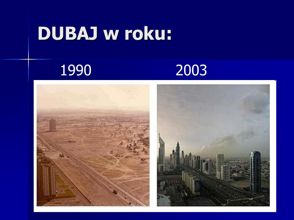 DUBAJ w roku: 19902003
