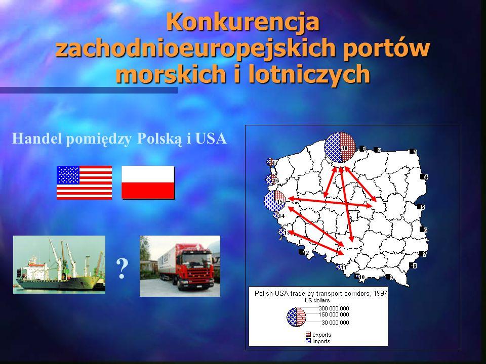 Konkurencja zachodnioeuropejskich portów morskich i lotniczych Handel pomiędzy Polską i USA ?
