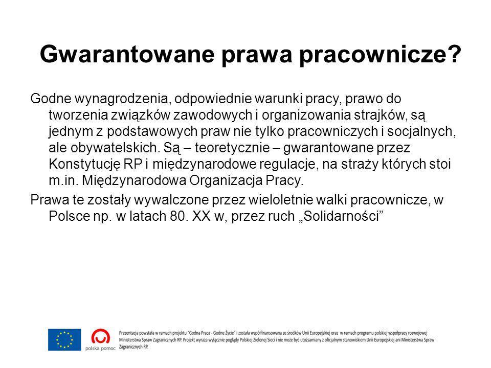 Gwarantowane prawa pracownicze.