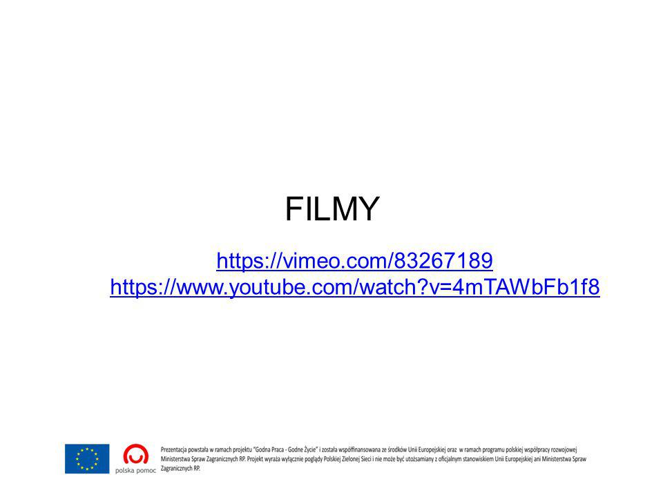 FILMY https://vimeo.com/83267189 https://www.youtube.com/watch v=4mTAWbFb1f8