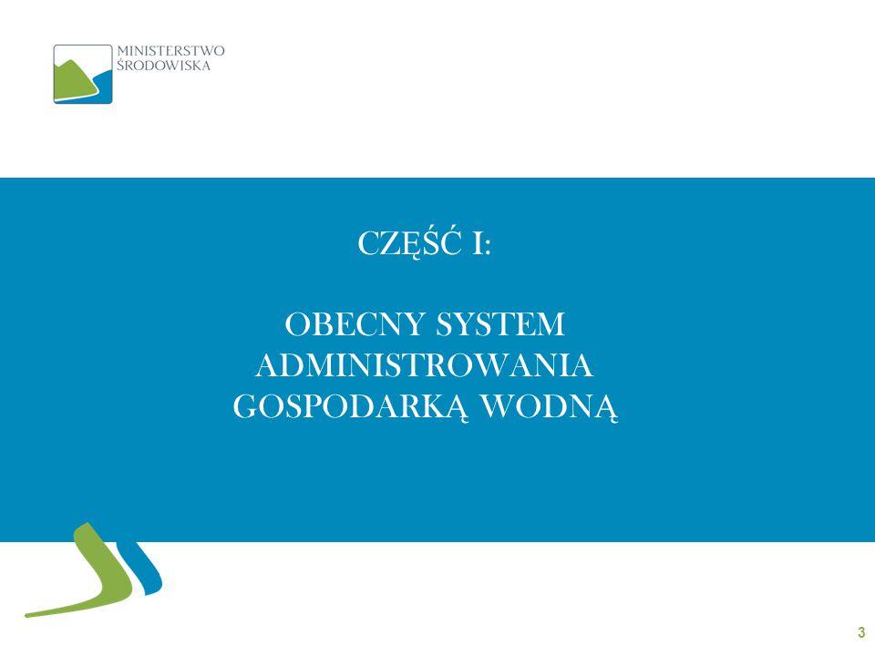 CZ ĘŚĆ I: OBECNY SYSTEM ADMINISTROWANIA GOSPODARK Ą WODN Ą 3