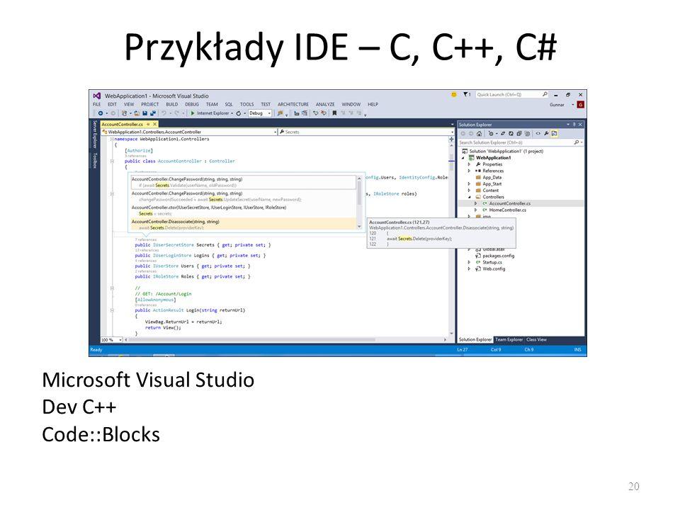 Oprogramowanie użytkowe 21 Oprogramowanie użytkowe (tak zwane aplikacje) - to programy wykonujące konkretne zadania.