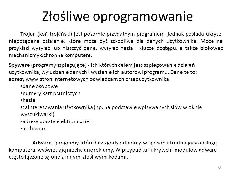 Wybrane zagadnienia prawne 29 Wszystkie programy komputerowe chronione są prawem autorskim.